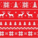 Naadloos patroon met klassiek sweaterontwerp Stock Afbeeldingen