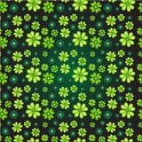 Naadloos patroon met klaver Stock Fotografie