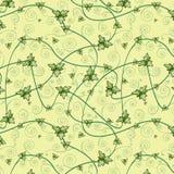 Naadloos patroon met klaverbladeren Donkere achtergrond Stock Foto