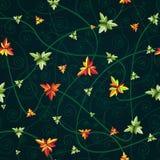 Naadloos patroon met klaverbladeren Donkere achtergrond Royalty-vrije Stock Fotografie