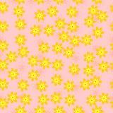 Naadloos patroon met kleine gele bloemen vector illustratie