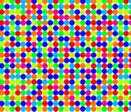 Naadloos patroon met kleine heldere cirkels Stock Fotografie