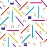 Naadloos patroon met kleurenpotloden Royalty-vrije Stock Foto's