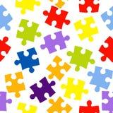 Naadloos patroon met kleurenraadsels Royalty-vrije Stock Foto