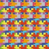 Naadloos patroon met kleurenraadsels Royalty-vrije Illustratie