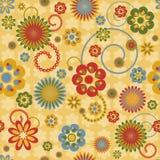 Naadloos patroon met kleurrijke bloemen Stock Afbeelding
