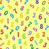 Naadloos patroon met kleurrijke cijfers stock illustratie