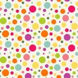 Naadloos patroon met kleurrijke cirkels Heldere achtergrond Royalty-vrije Stock Foto