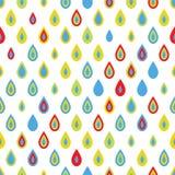 Naadloos patroon met kleurrijke dalingen Stock Foto's