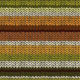 Naadloos patroon met kleurrijke gebreide strepen Royalty-vrije Stock Afbeelding