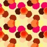 Naadloos patroon met kleurrijke grungecirkels. Royalty-vrije Stock Foto