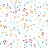 Naadloos patroon met kleurrijke muzieknoten Vector Stock Afbeelding
