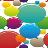 Naadloos patroon met kleurrijke toespraakbellen Stock Afbeeldingen