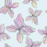 Naadloos patroon met kleurrijke vlinders Stock Foto