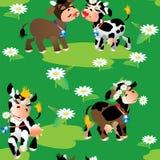 Naadloos patroon met koeien stock illustratie