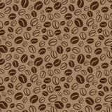 Naadloos patroon met koffiebonen Het herhalen van naadloze mede Royalty-vrije Stock Afbeeldingen