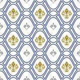 Naadloos Patroon met Koninklijke Lelie Stock Afbeelding
