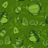 Naadloos patroon met kop thee Royalty-vrije Stock Afbeelding