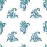 Naadloos patroon met krabbel bloemenelementen Royalty-vrije Stock Fotografie