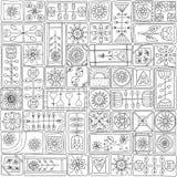 Naadloos patroon met krabbelkaders royalty-vrije illustratie