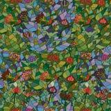 Naadloos patroon met krabbelornamenten Stock Afbeelding