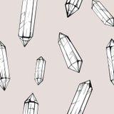 Naadloos patroon met kristalgem Stock Afbeeldingen
