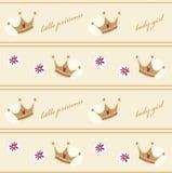 Naadloos patroon met kronen Royalty-vrije Stock Afbeeldingen