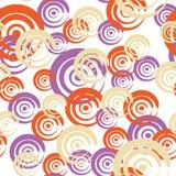 Naadloos patroon met krullen Royalty-vrije Stock Afbeeldingen
