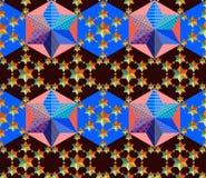 Naadloos patroon met lapwerksterren Royalty-vrije Stock Afbeeldingen