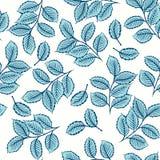 Naadloos patroon met leuke bladeren Stock Afbeelding