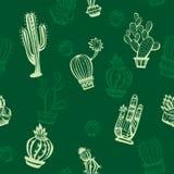 Naadloos patroon met leuke cactussen Stock Fotografie