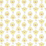 Naadloos patroon met leuke chiÑ  kens royalty-vrije illustratie