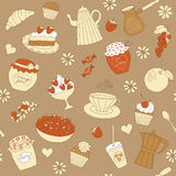 Naadloos patroon met leuke cupcakes Royalty-vrije Stock Foto