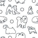 Naadloos patroon met leuke honden Royalty-vrije Stock Fotografie