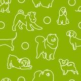 Naadloos patroon met leuke honden Royalty-vrije Stock Foto's