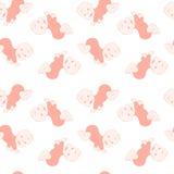 Naadloos patroon met leuke kruipende babys Stock Afbeelding
