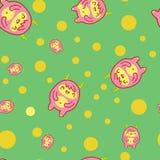 Naadloos patroon met leuke yeti Vector illustratie Stock Fotografie