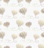 Naadloos patroon met lotusbloem Stock Fotografie
