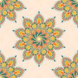 Naadloos patroon met mandala Stock Foto's