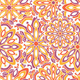 Naadloos patroon met mandalas Royalty-vrije Stock Foto's