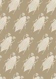 Naadloos Patroon met mei-Insecten Stock Afbeeldingen