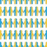 Naadloos patroon met mensen Stock Afbeeldingen