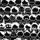 Naadloos patroon met mensenmenigte voor uw ontwerp Stock Foto