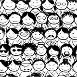 Naadloos patroon met mensenmenigte voor uw ontwerp Royalty-vrije Stock Foto