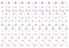 Naadloos patroon met miniharten en punten royalty-vrije illustratie