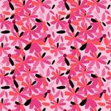 Naadloos patroon met modieuze bloemen op een roze achtergrond Stock Afbeeldingen
