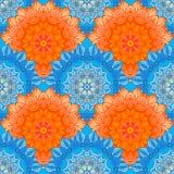 Naadloos patroon met mooie Mandalas Vector illustratie royalty-vrije illustratie