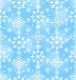 Naadloos Patroon met Mooie Sneeuwvlokken Royalty-vrije Stock Afbeelding