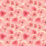 Naadloos patroon met mooie waterverfbloemen Royalty-vrije Stock Afbeelding