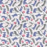 Naadloos patroon met mouses Achtergrond met leuke ratten in g Royalty-vrije Stock Afbeeldingen